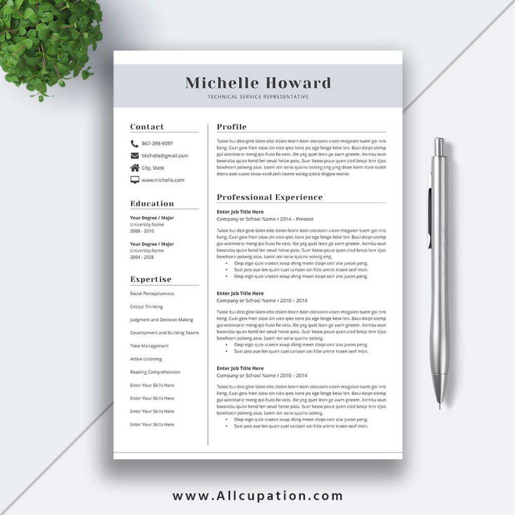 009 Awesome Best Resume Template Word High Resolution  Format Free Download WordpresLarge