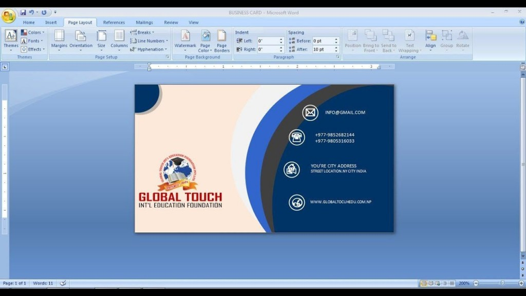 009 Awesome Busines Card Template Microsoft Word Highest Quality  Avery 8 Per Page How To Make A Layout OnLarge