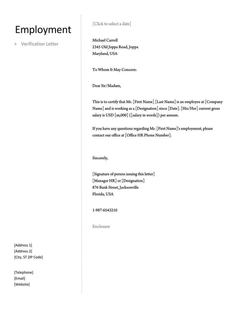 009 Awesome Employment Verification Form Template Image  Templates Previou Past PrintableFull