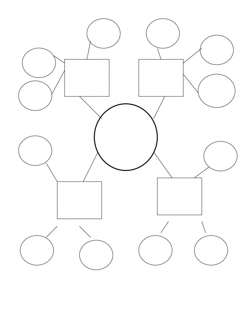009 Awesome Free Blank Concept Map Template Design  Printable NursingFull