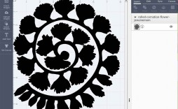 009 Awesome Free Rolled Paper Flower Template For Cricut Inspiration