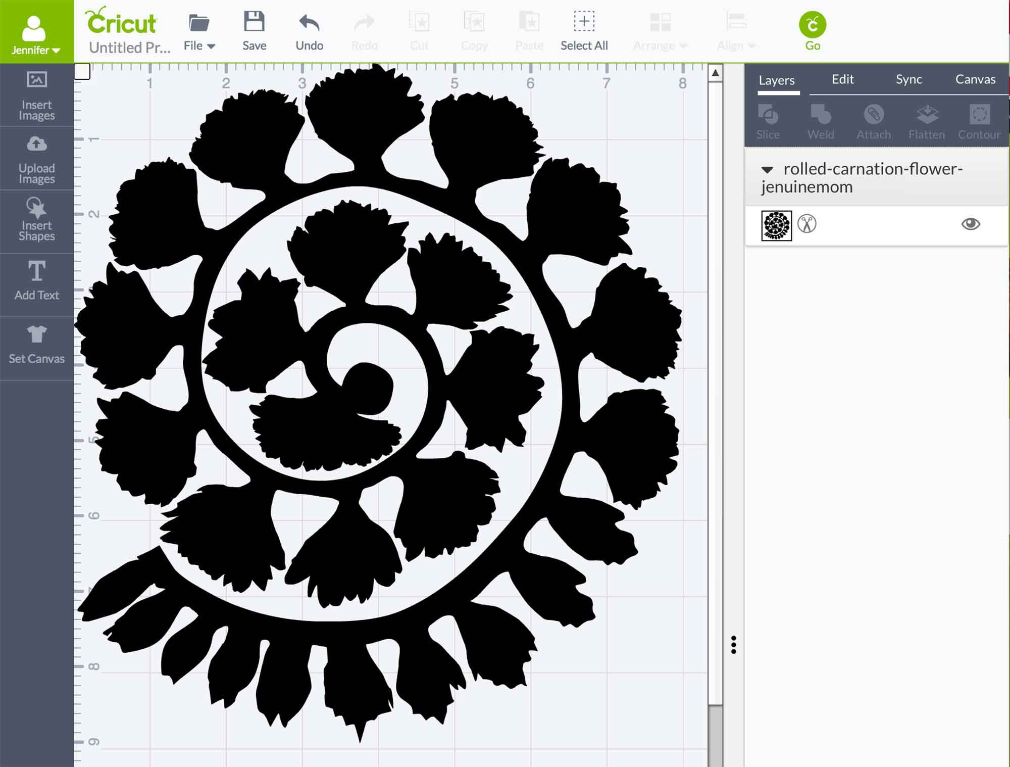009 Awesome Free Rolled Paper Flower Template For Cricut Inspiration Full