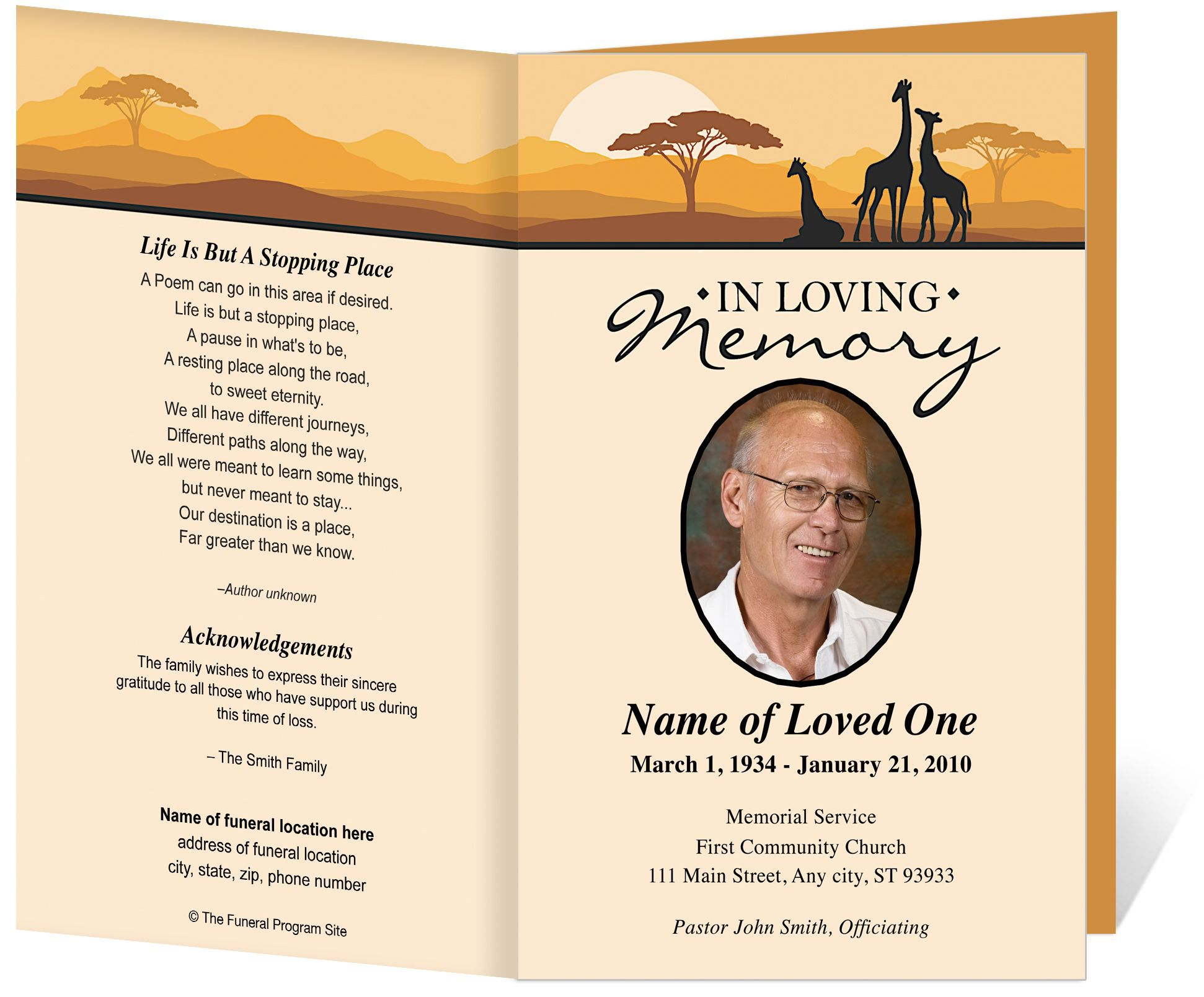 009 Awesome Funeral Invitation Template Free Sample  Printable Service WordFull