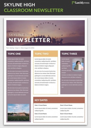 009 Awesome Microsoft Newsletter Template Free Idea  Powerpoint School Publisher Download320