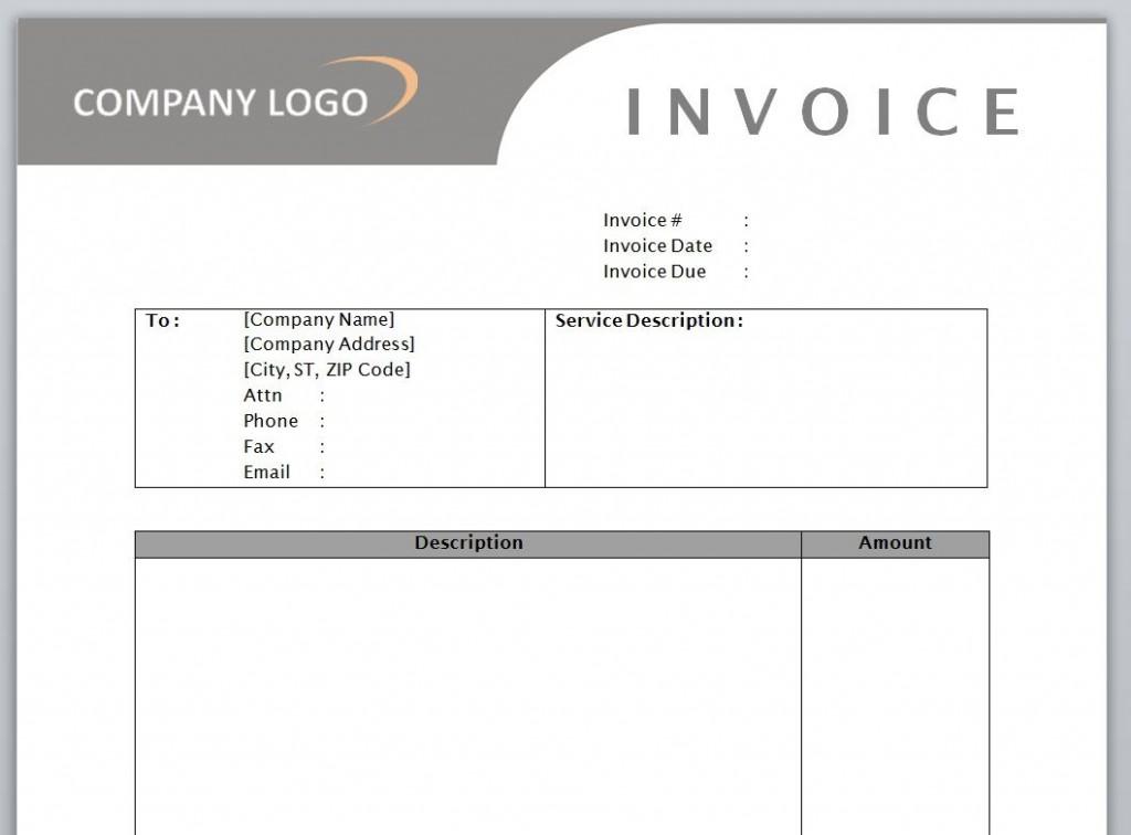 009 Awesome Microsoft Word Auto Repair Invoice Template Idea Large
