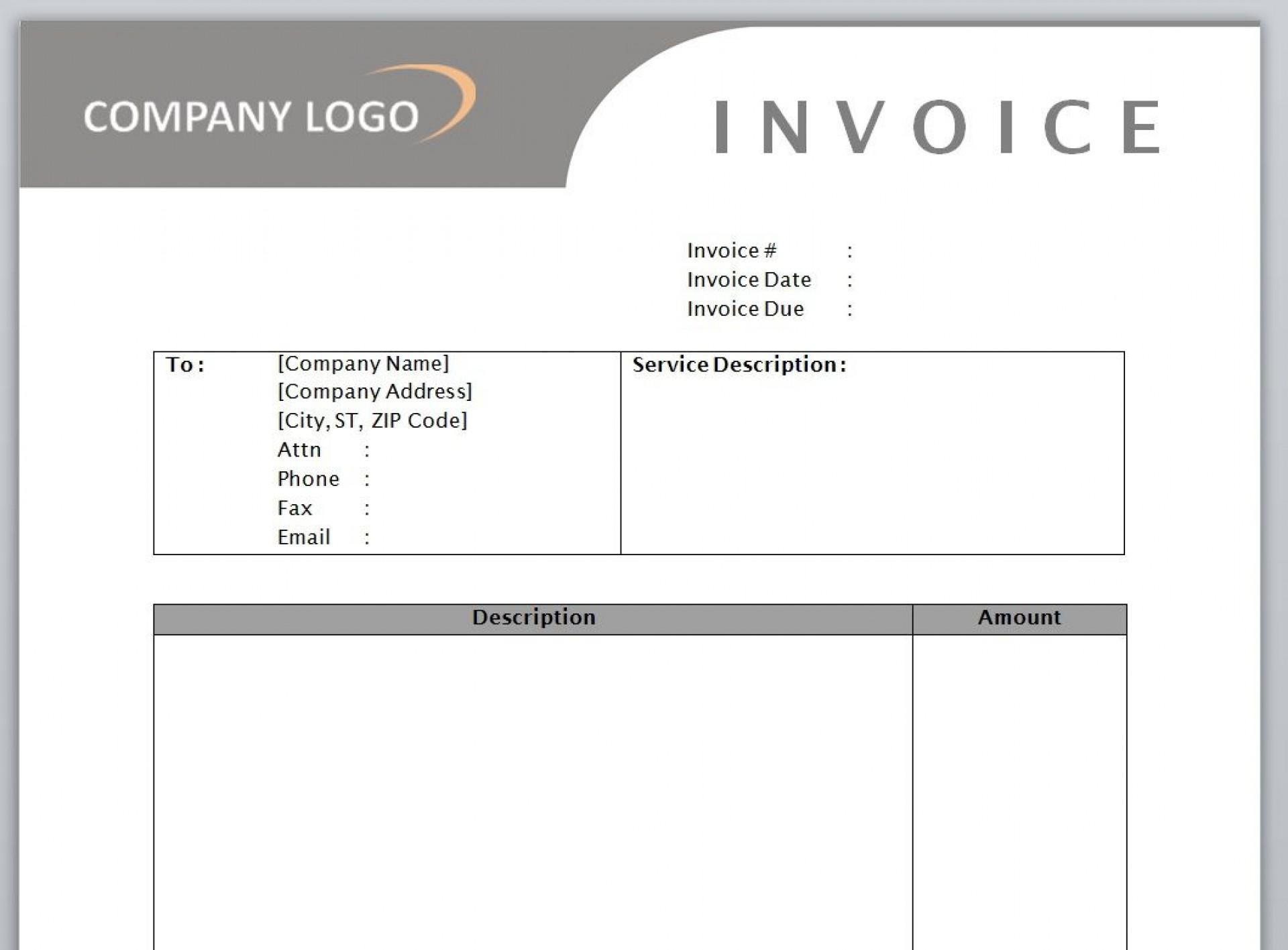 009 Awesome Microsoft Word Auto Repair Invoice Template Idea 1920