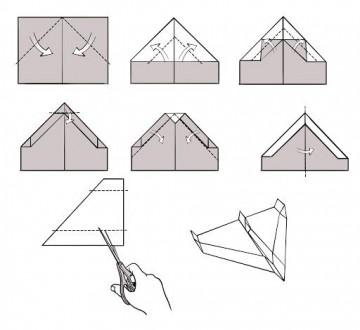 009 Awesome Printable Paper Plane Plan Photo  Free Airplane Template Pdf360