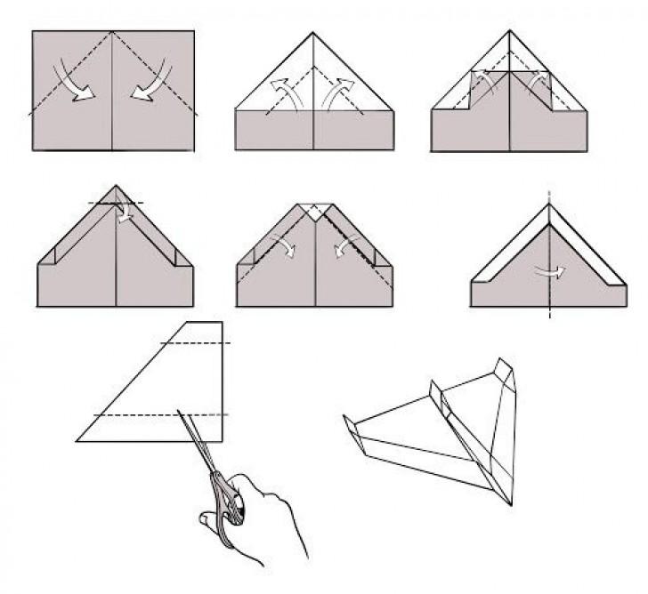 009 Awesome Printable Paper Plane Plan Photo  Free Airplane Template Pdf728