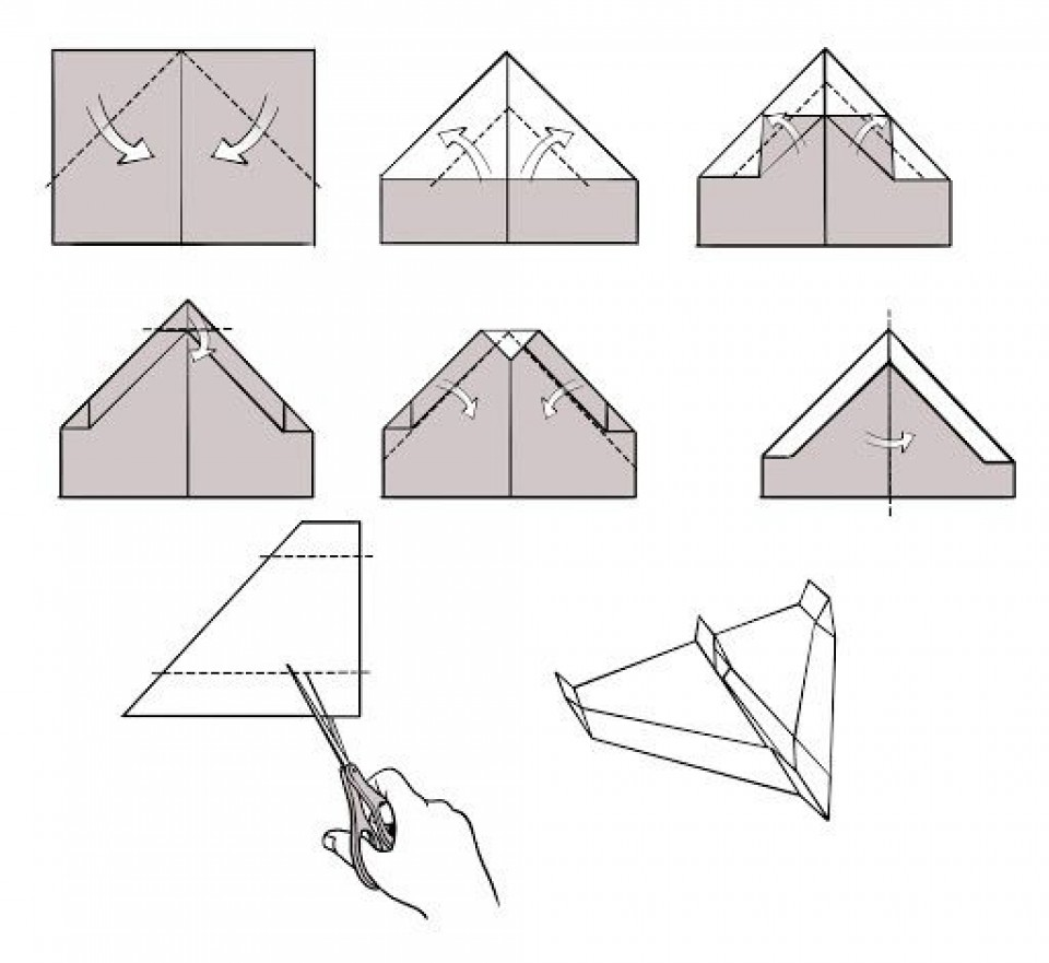 009 Awesome Printable Paper Plane Plan Photo  Free Airplane Template Pdf960