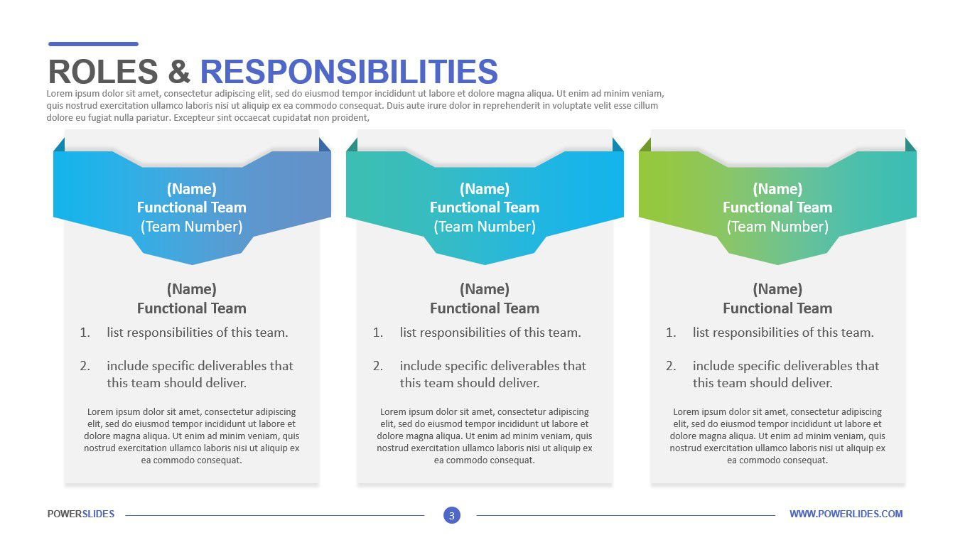 009 Awesome Project Role And Responsibilitie Template Powerpoint Picture Full