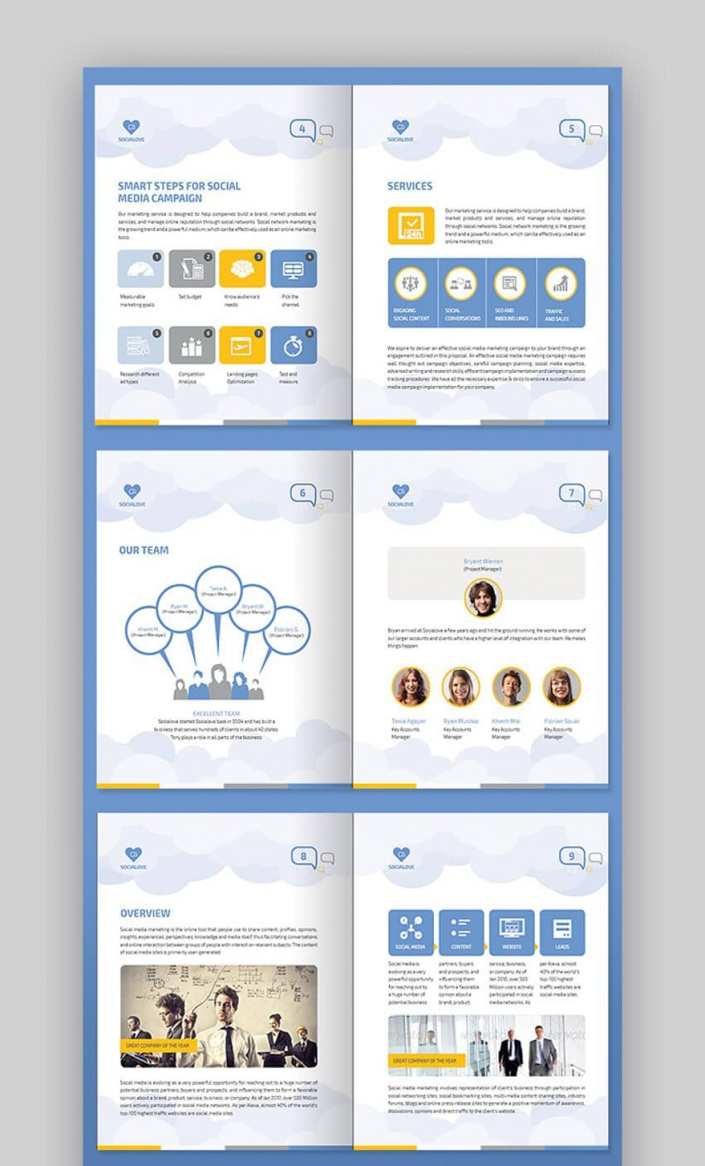 009 Awesome Social Media Proposal Template High Def  Ppt Marketing Word 2019Large