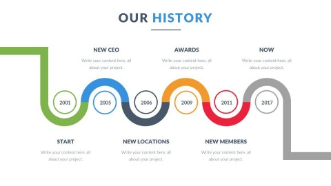 009 Awesome Timeline Ppt Template Download Free High Def  Project480