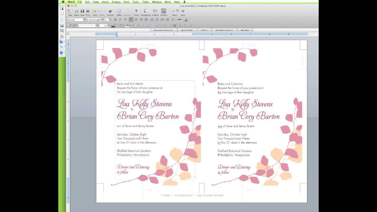 009 Awesome Wedding Invitation Template Word Concept  Invite Wording Uk Anniversary Microsoft Free MarriageFull