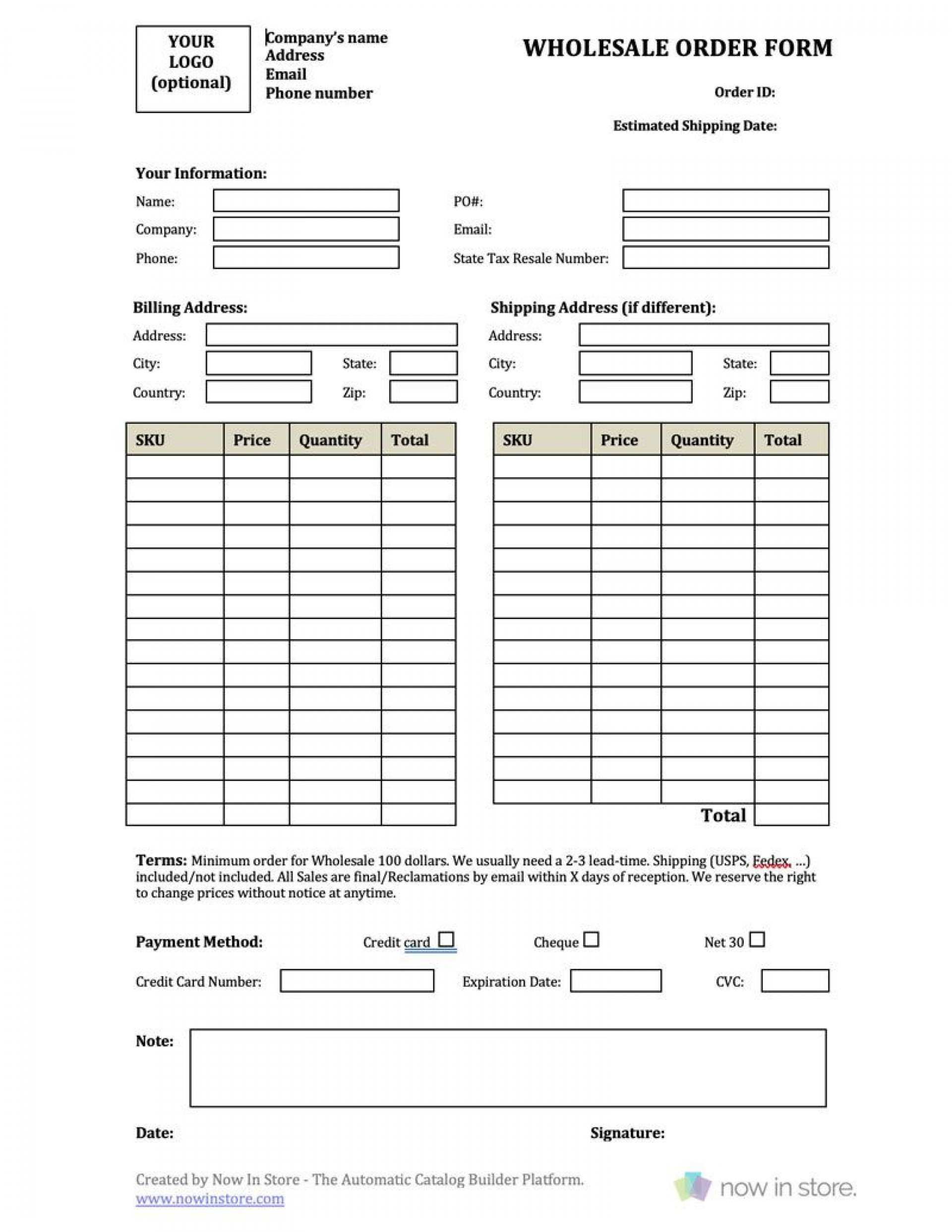 009 Awful Busines Credit Application Template Excel Photo  Form1920