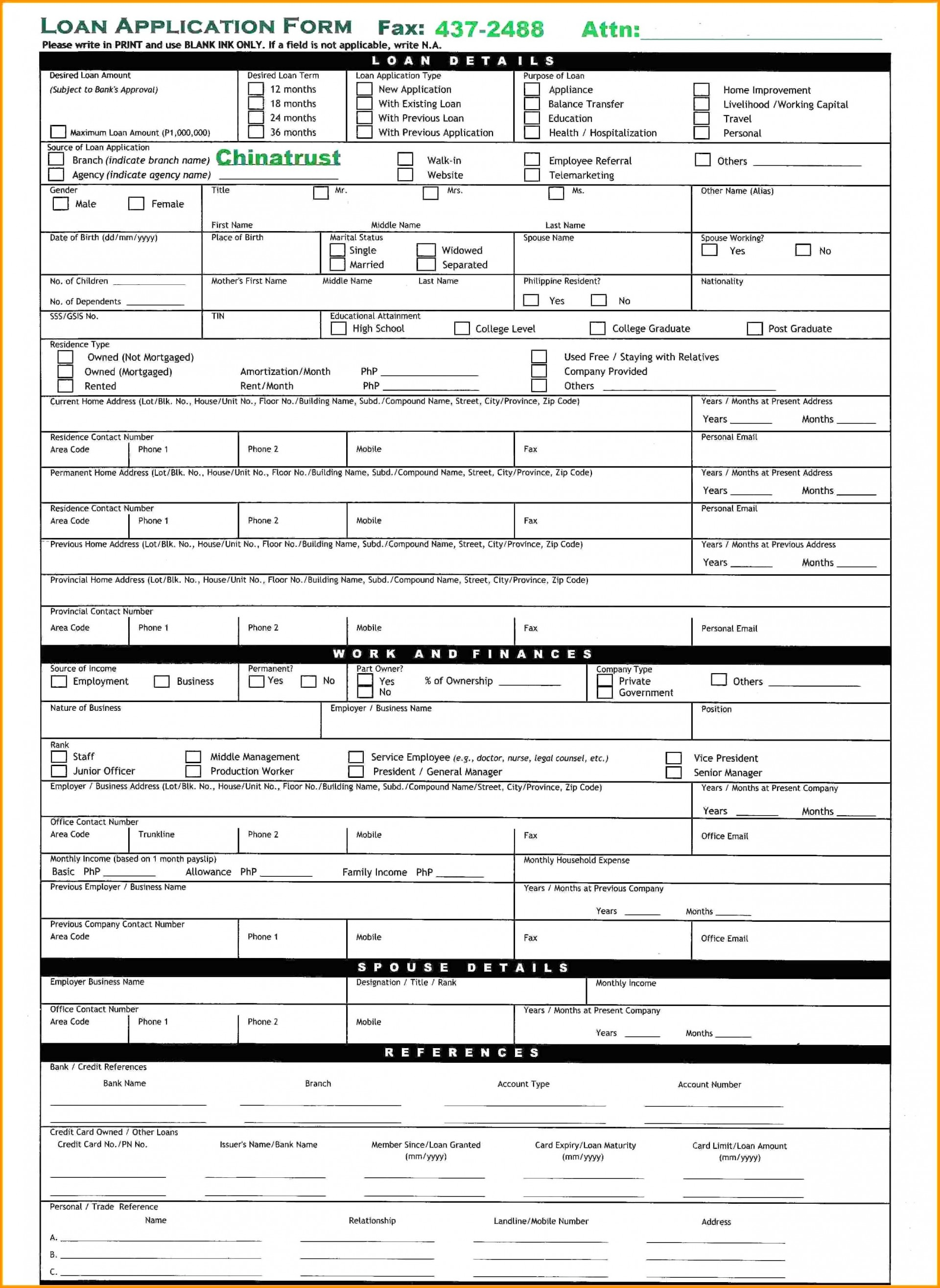 009 Awful Busines Credit Application Template Pdf Picture  Form1920