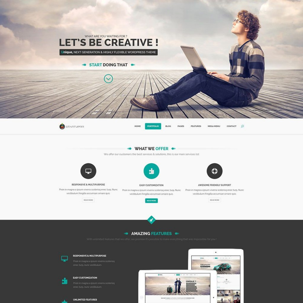 009 Awful Creative One Page Website Template Free Download Example Large