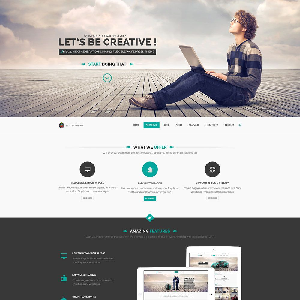 009 Awful Creative One Page Website Template Free Download Example Full