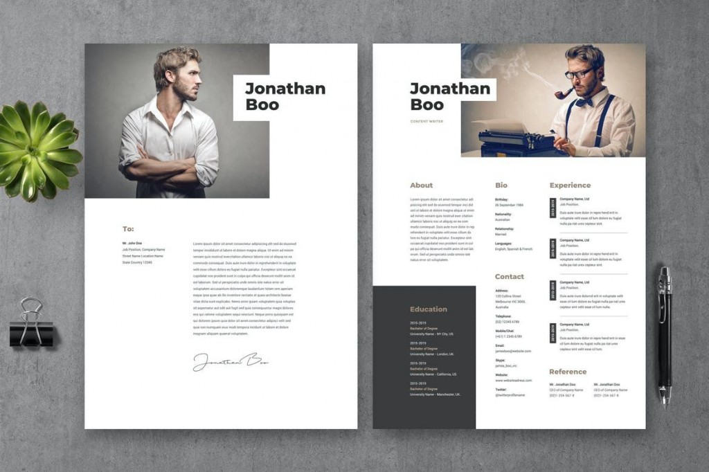 009 Awful Creative Resume Template Free Download Psd Picture  CvLarge