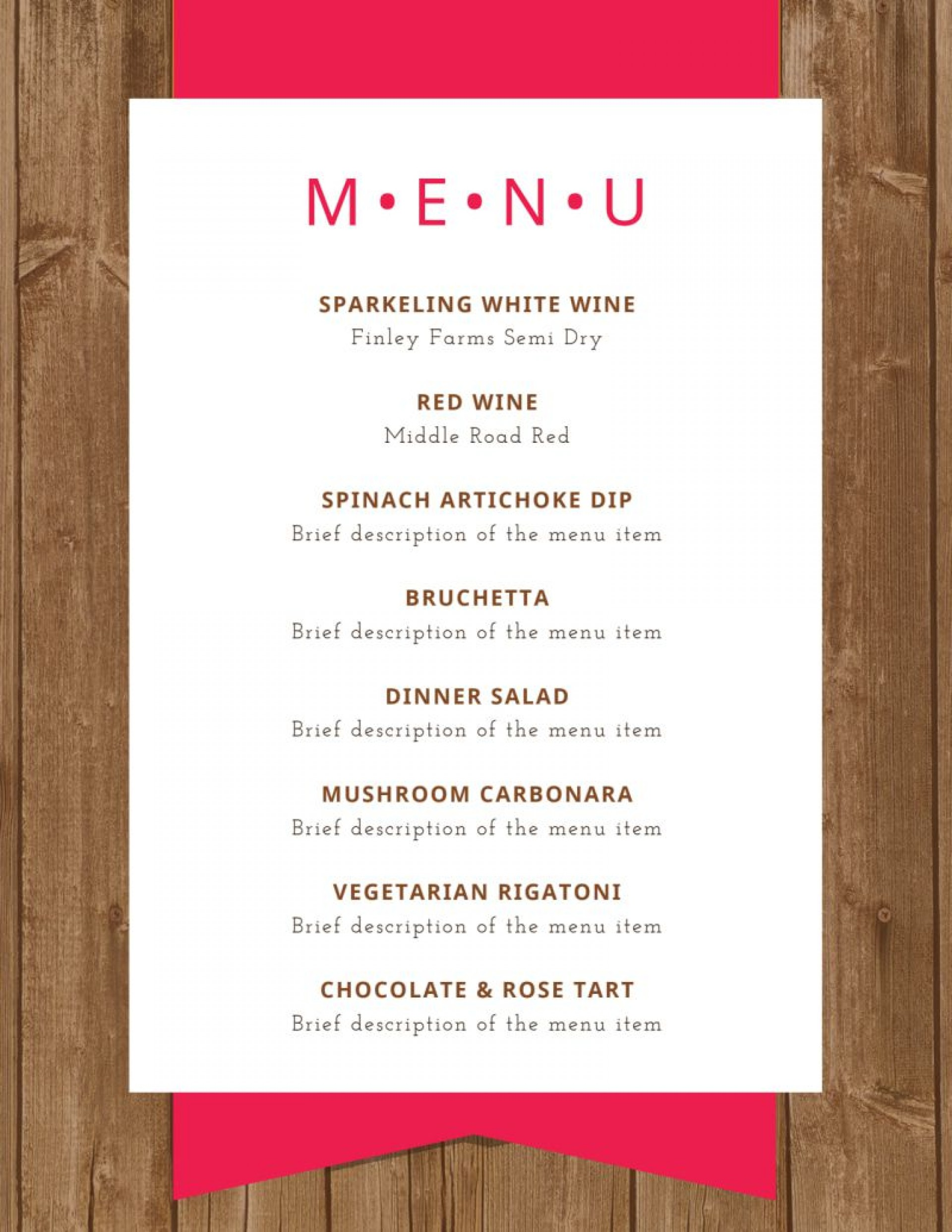 009 Awful Dinner Party Menu Template Highest Quality  Word Elegant Free Google Doc1920