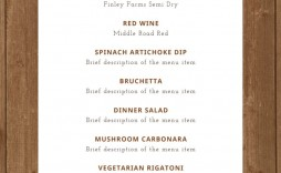 009 Awful Dinner Party Menu Template Highest Quality  Word Elegant Free Google Doc