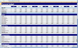 009 Awful Excel Monthly Bill Template High Definition  Personal Budget Free Download