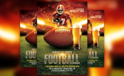 009 Awful Football Flyer Template Free Sample  Download Flag Party