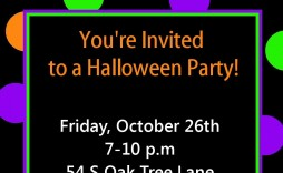 009 Awful Free Halloween Party Invitation Template Picture  Templates Birthday For Word