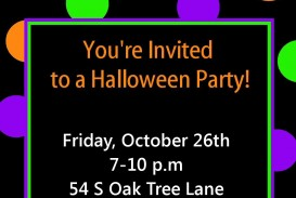 009 Awful Free Halloween Party Invitation Template Picture  Printable Birthday For Word Download