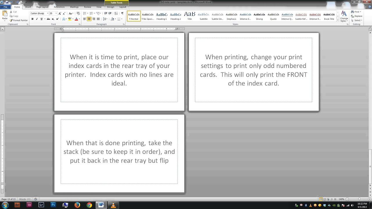009 Awful Free Index Card Template Picture  Printable EditableFull