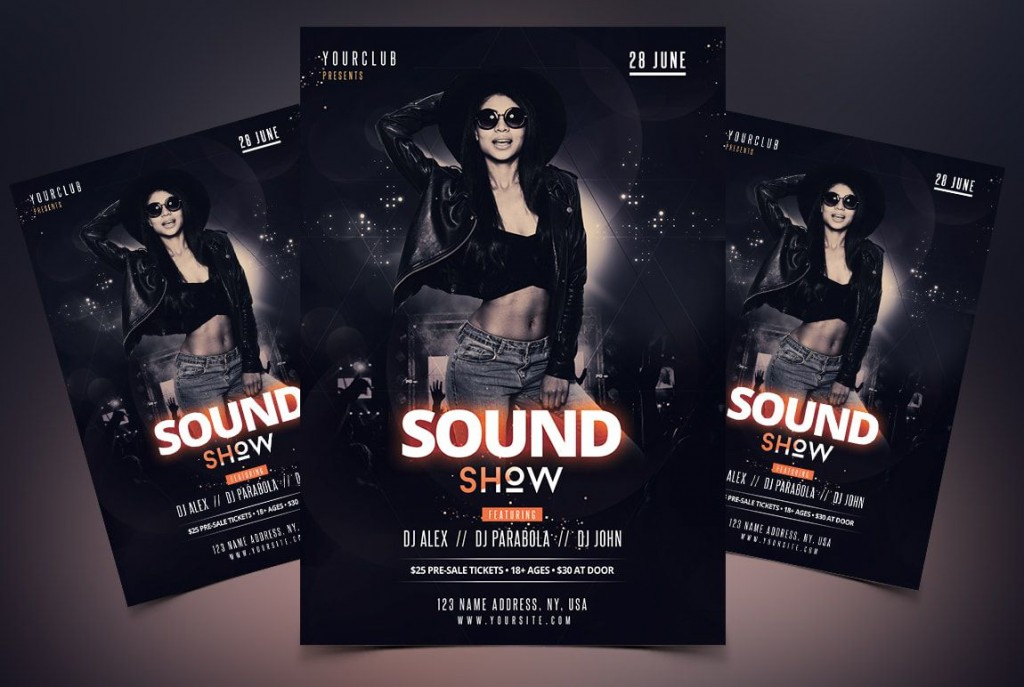 009 Awful Free Party Flyer Psd Template Download Inspiration  - Neon GlowLarge