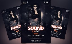 009 Awful Free Party Flyer Psd Template Download Inspiration  - Neon Glow