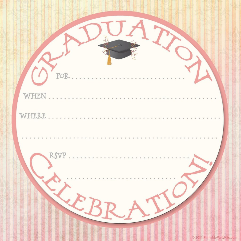 009 Awful Free Printable Graduation Announcement Template High Def Large
