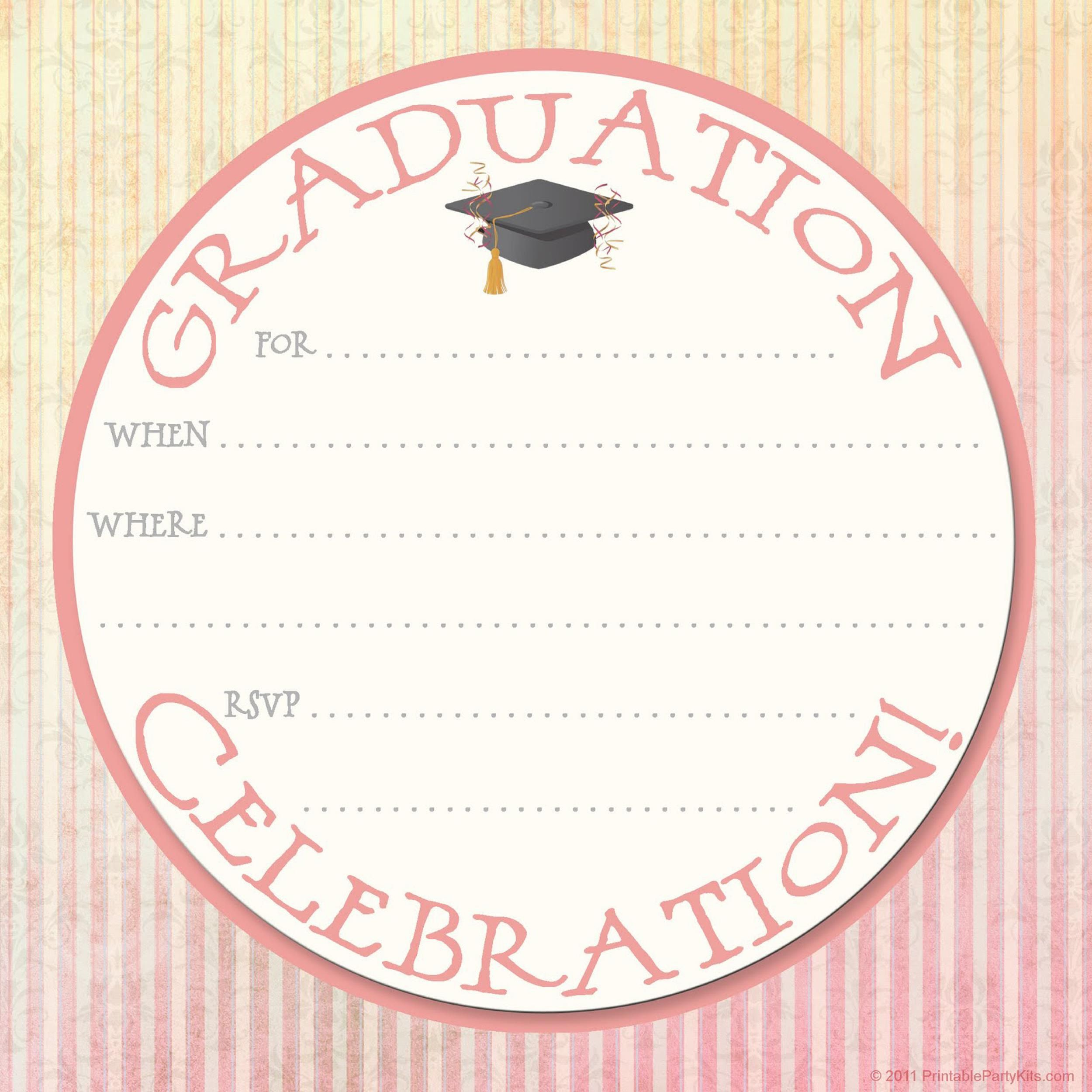 009 Awful Free Printable Graduation Announcement Template High Def Full