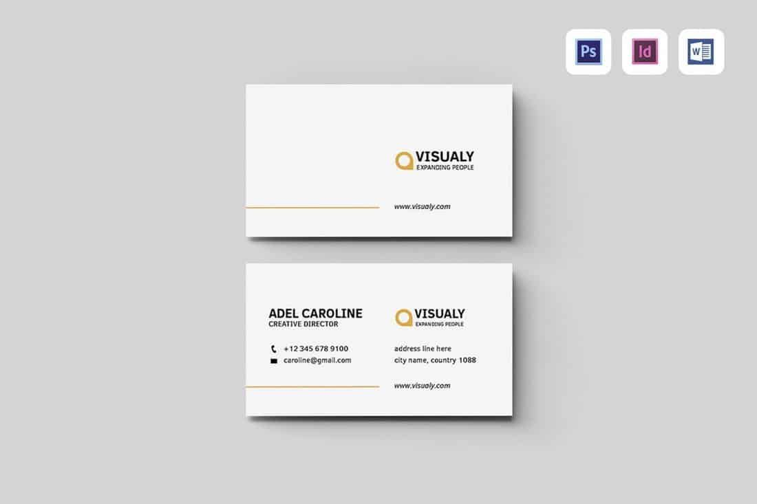009 Awful Free Simple Busines Card Template Word Inspiration Full