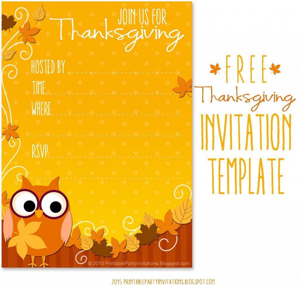 009 Awful Free Thanksgiving Invitation Template Highest Quality  Templates Printable Dinner Download PotluckLarge