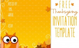 009 Awful Free Thanksgiving Invitation Template Highest Quality  Templates Printable Dinner Download Potluck