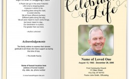 009 Awful Funeral Program Template Free Concept  Download Memorial