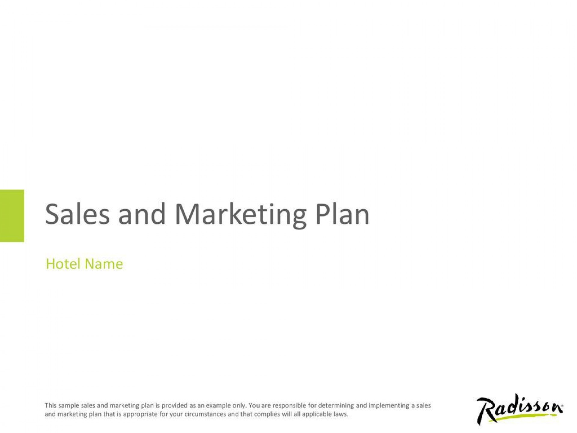 009 Awful Hotel Sale And Marketing Plan Example Inspiration  Examples1920