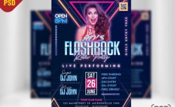 009 Awful Party Flyer Psd Template Free Download Image  Rave