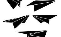 009 Awful Printable Paper Plane Template Example  Templates Model Free Airplane Pattern