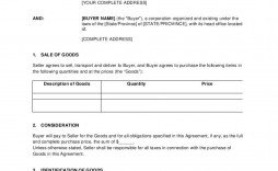 009 Awful Purchase Sale Agreement Template Example  Uk & Nz Free Busines And