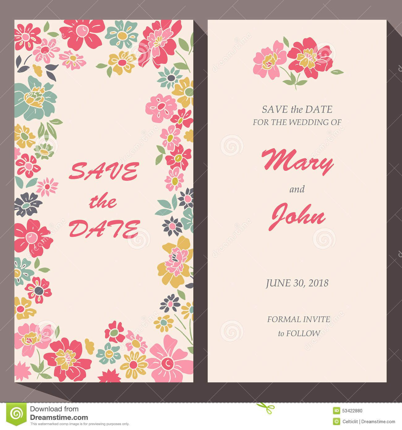 009 Awful Save The Date Birthday Card Template Design  Free PrintableFull