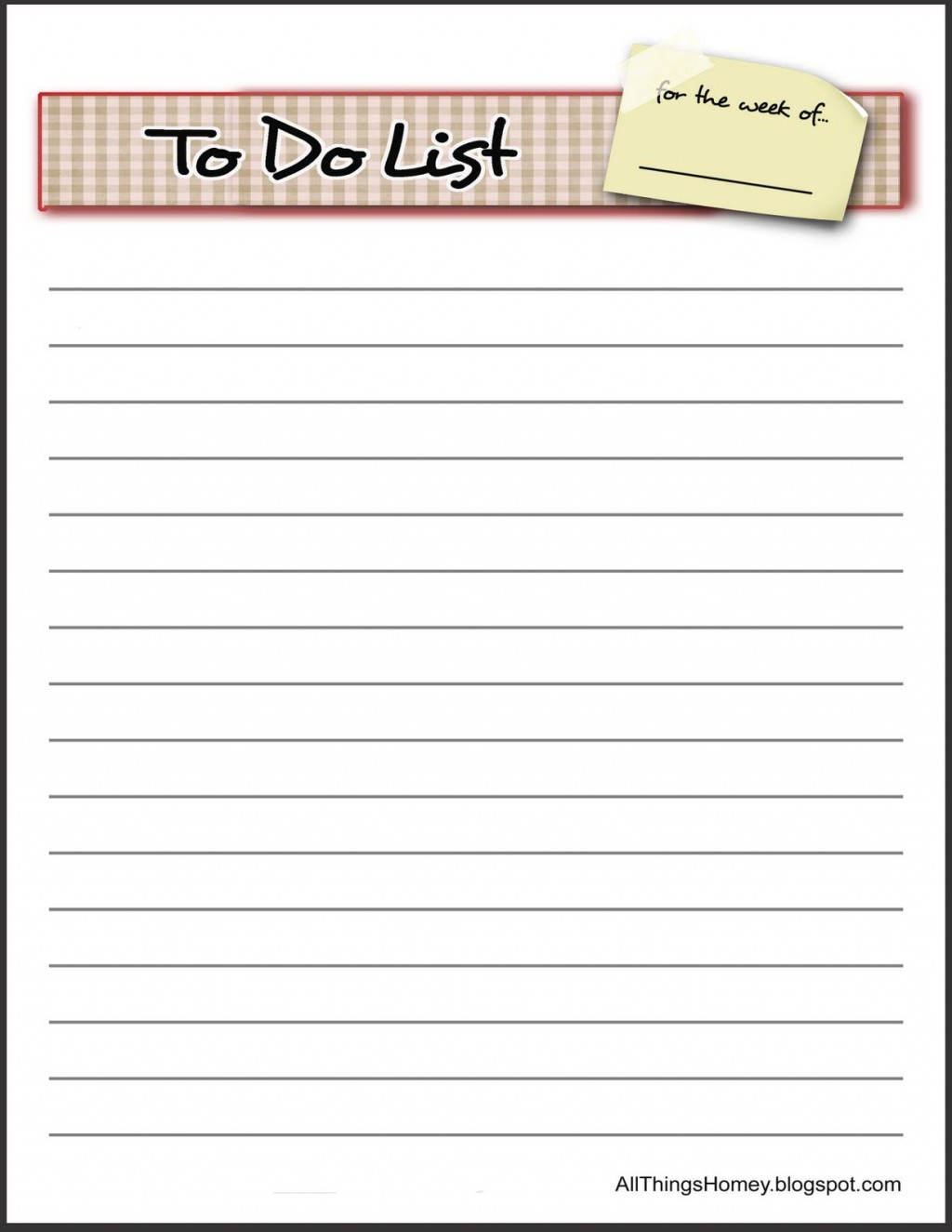 009 Awful To Do List Template Word High Def Large