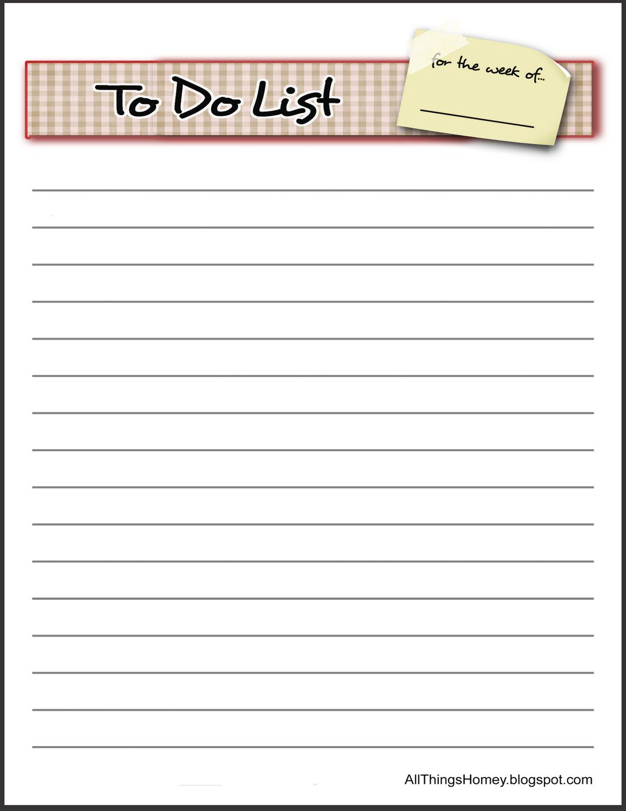 009 Awful To Do List Template Word High Def Full