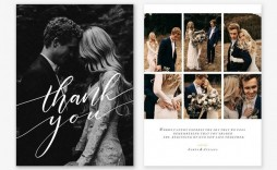 009 Awful Wedding Thank You Card Template Psd Example  Free