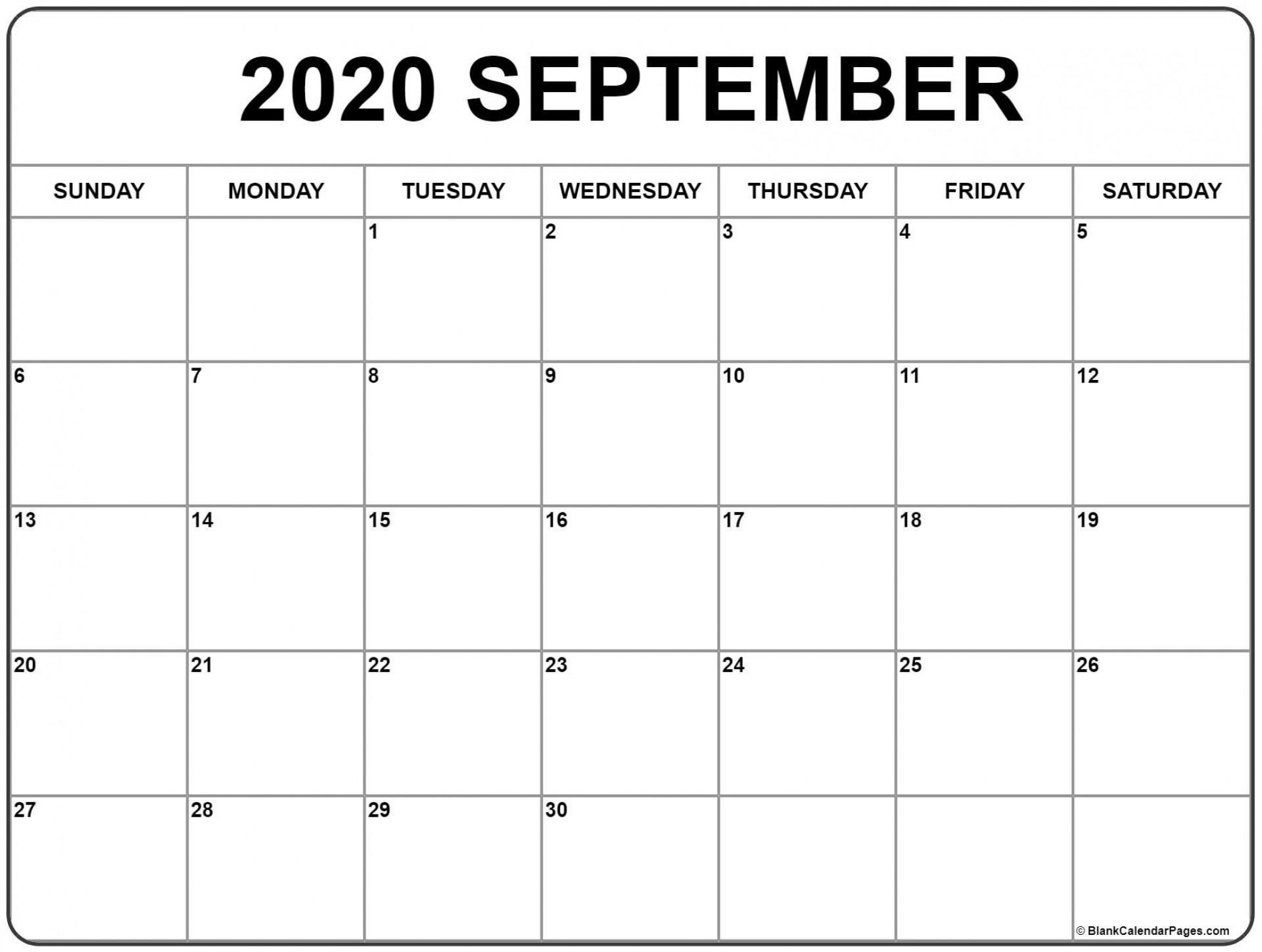 009 Beautiful 30 Day Calendar Template High Definition  Pdf Free Blank1920