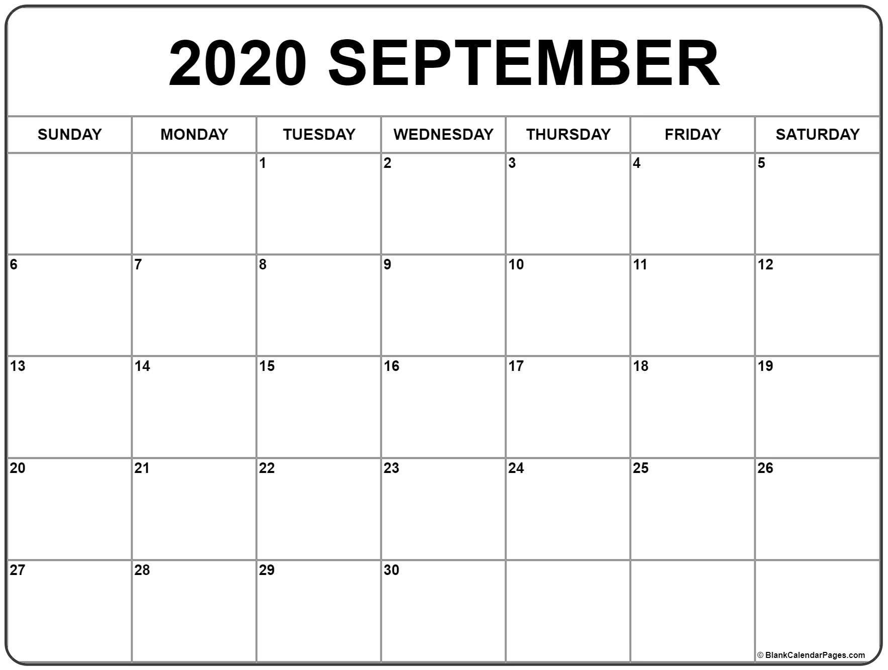 009 Beautiful 30 Day Calendar Template High Definition  Pdf Free BlankFull