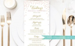 009 Beautiful Baby Shower Menu Template Idea  Templates Lunch Printable Downloadable