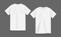009 Beautiful Blank Tee Shirt Template High Resolution  T Design Pdf Free T-shirt Front And Back Download