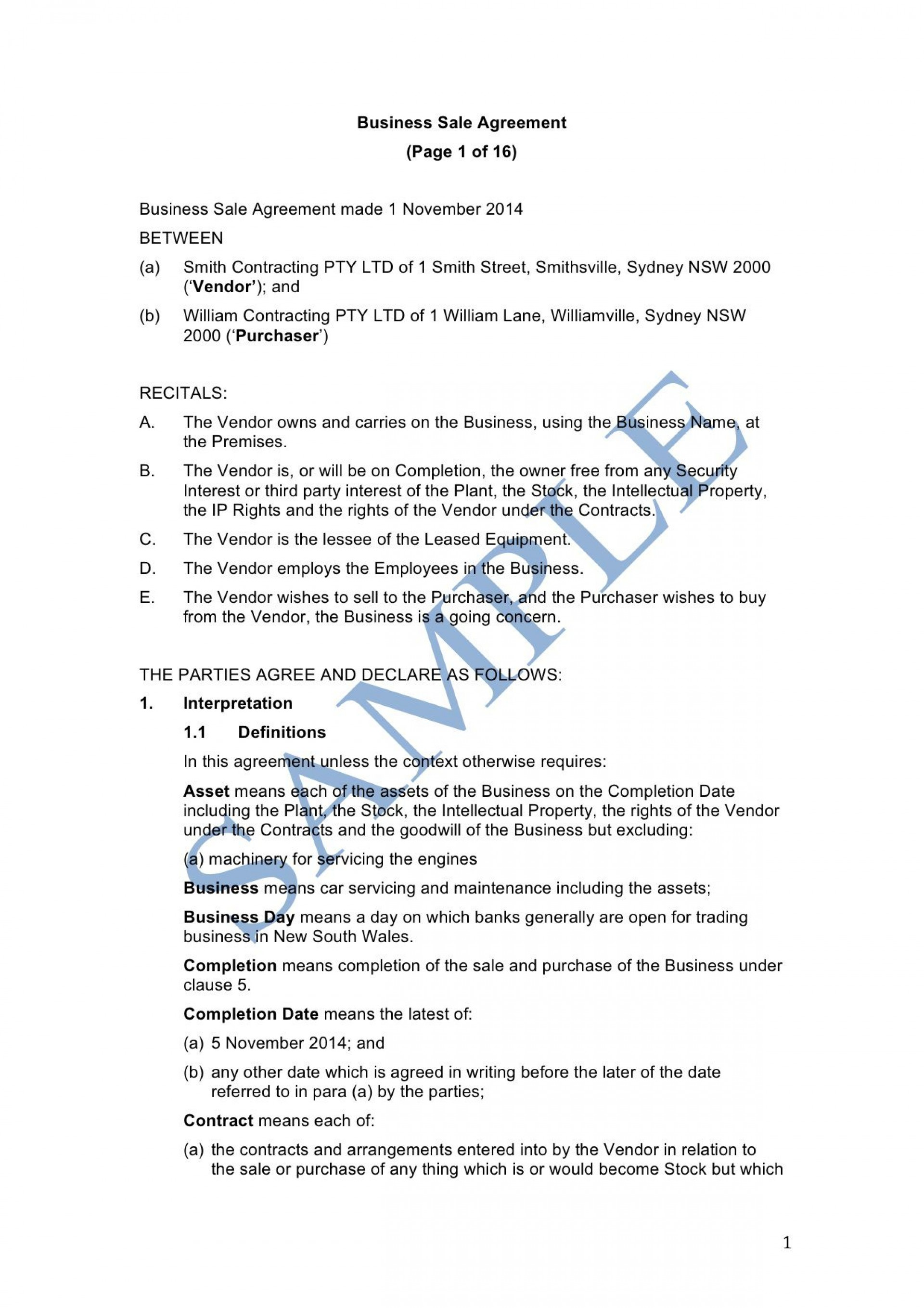 009 Beautiful Busines Purchase Agreement Template Inspiration  Free Uk Sale And Nz Buying Contract1920